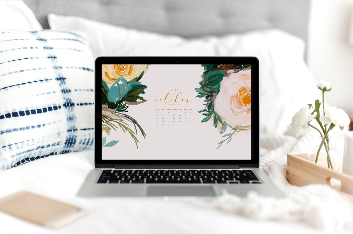 Free October 2017 Calendar and Wallpaper Download by Parima Studio