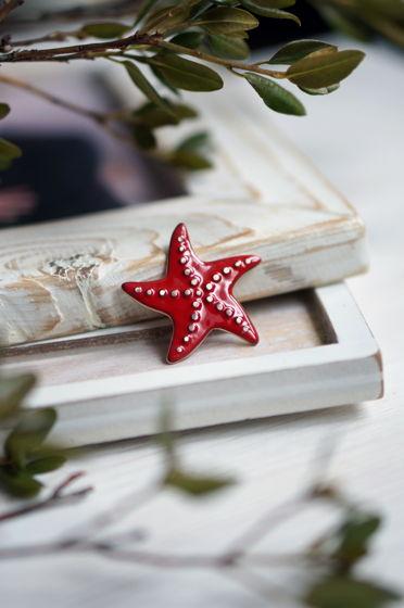 Брошь морская звезда
