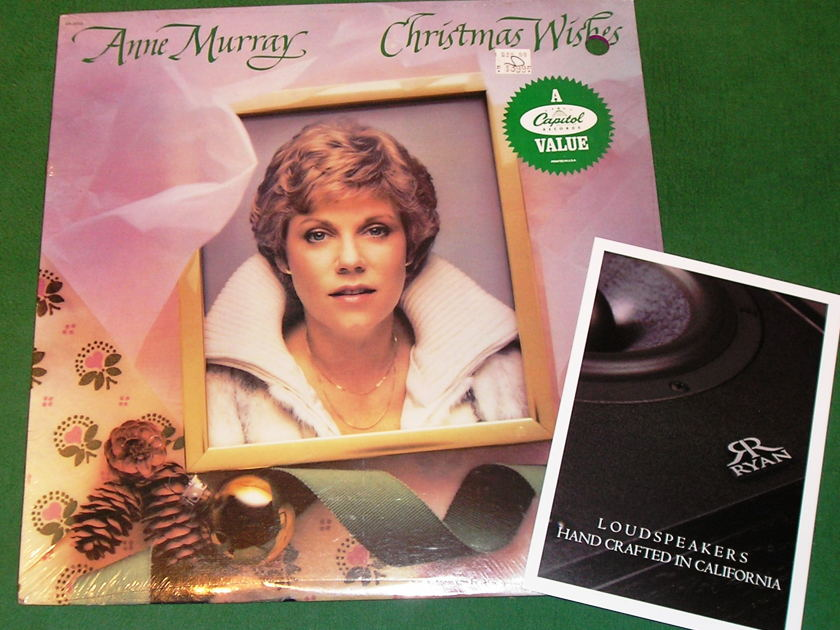 ANNE MURRAY - CHRISTMAS WISHES  - * 1981 CAPITOL RECORDS with PROMOTIONAL STICKER * NEW/SEALED