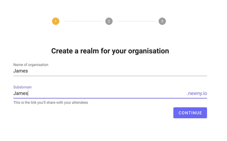 Create Realm On Newny