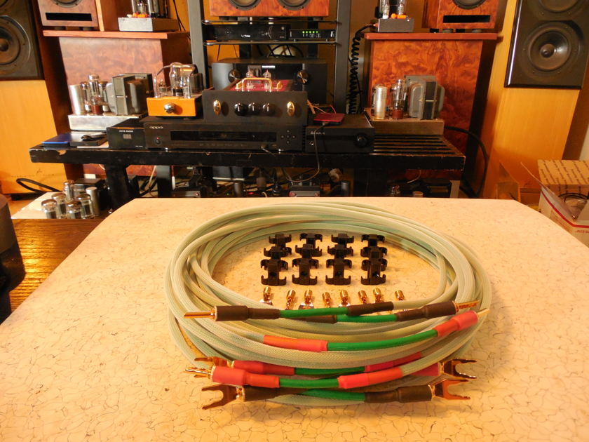 "SILVER/TEFLON SPEAKER CABLES ""ENVY"" 3 Meter Convertible Cable System"
