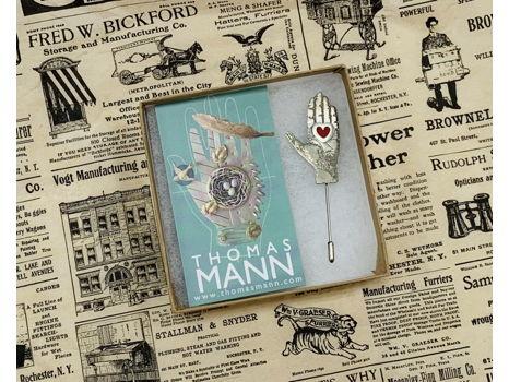 Thomas Mann - Hand and Heart Stick Pin