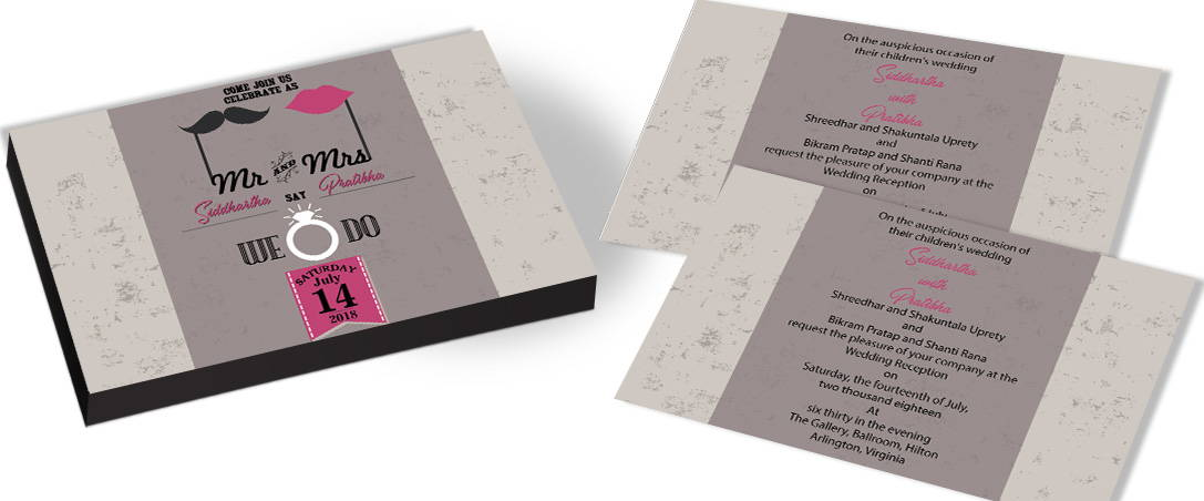 Urban Elegance Modern Wedding Invitation