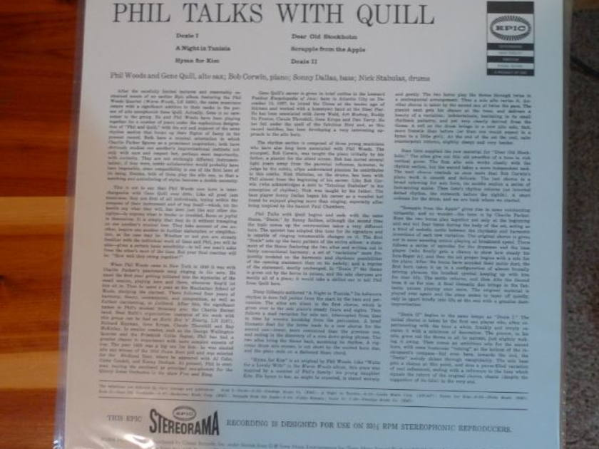 Phil Woods - Talks With Quill Classic Records original reissue 180G 1990's Sealed