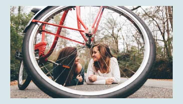 technischer jugendbildungsverein fahrrad mit mädchen
