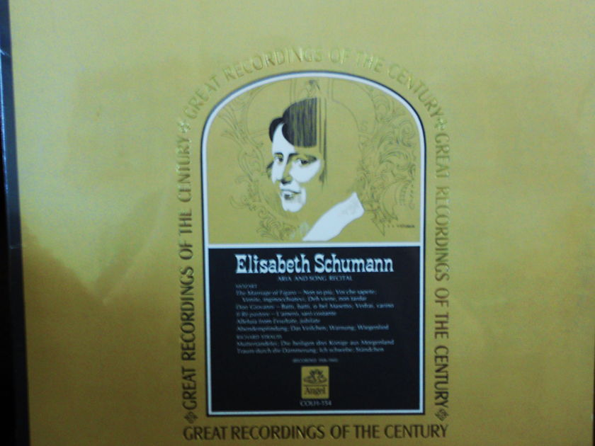 FACTORY SEALED ~ ELISABETH SCHUMANN ARIA & SONG RECITAL ~  - GREAT RECORDINGS OF THE CENTURY ~  EMI/ANGEL COLH 154 (1966)