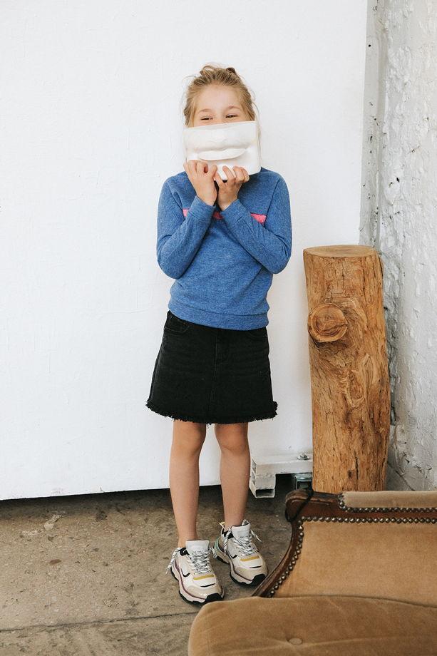 Детский шерстяной свитшот