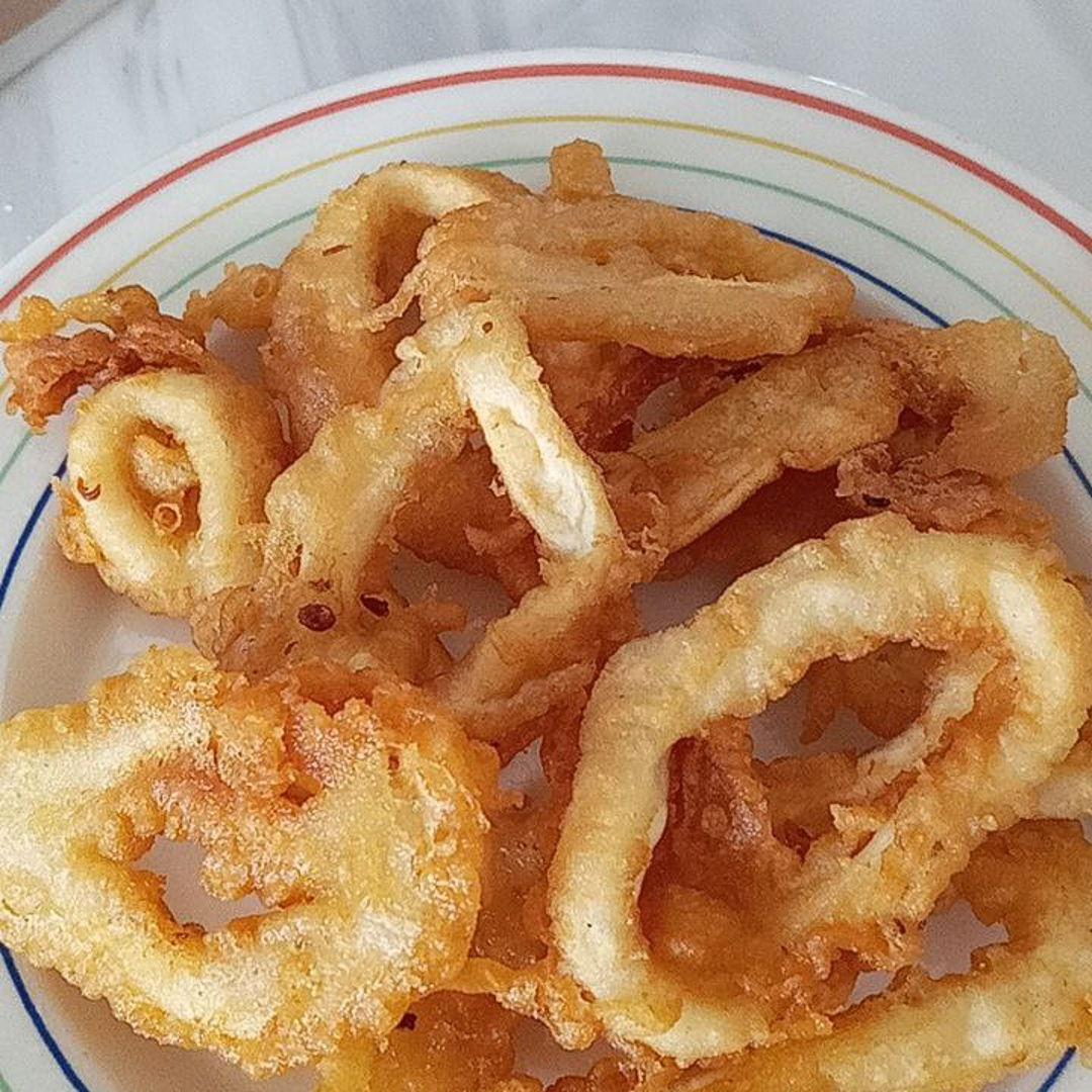 Fried squid rings 🤗😃