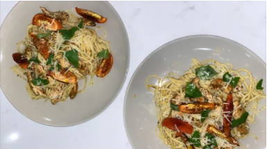 Creamy Roasted Tomato Spaghetti.