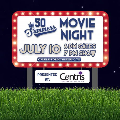 Picture of The Omaha Storm Chasers and Centris Federal Credit Union will host a showing of 50 Summers at Werner Park on Friday, July 10.