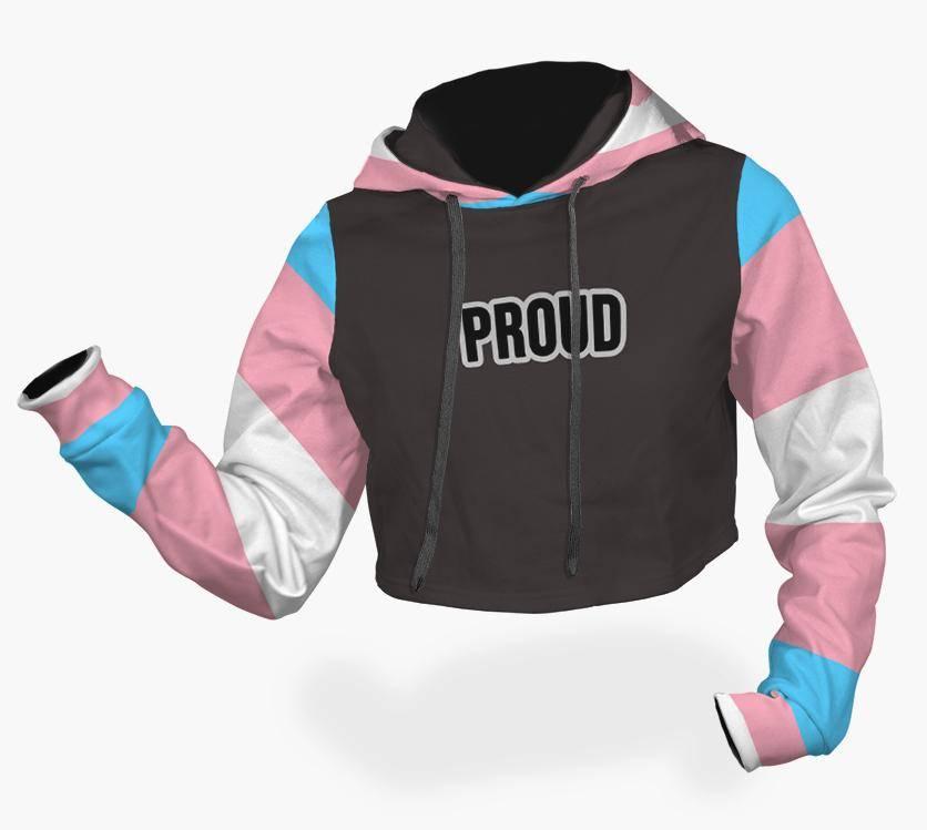 trans pride crop top