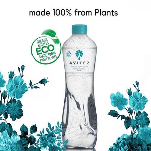 water bottle 100% made from plants