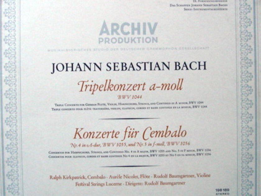 1st Press Archiv / BAUMGARTNER, - Bach Triple Concerto, MINT!