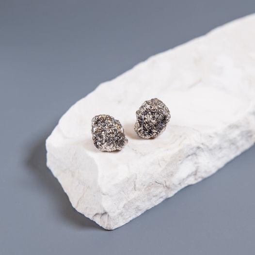 """Серьги из фарфора, коллекция """"Meteorites"""""""