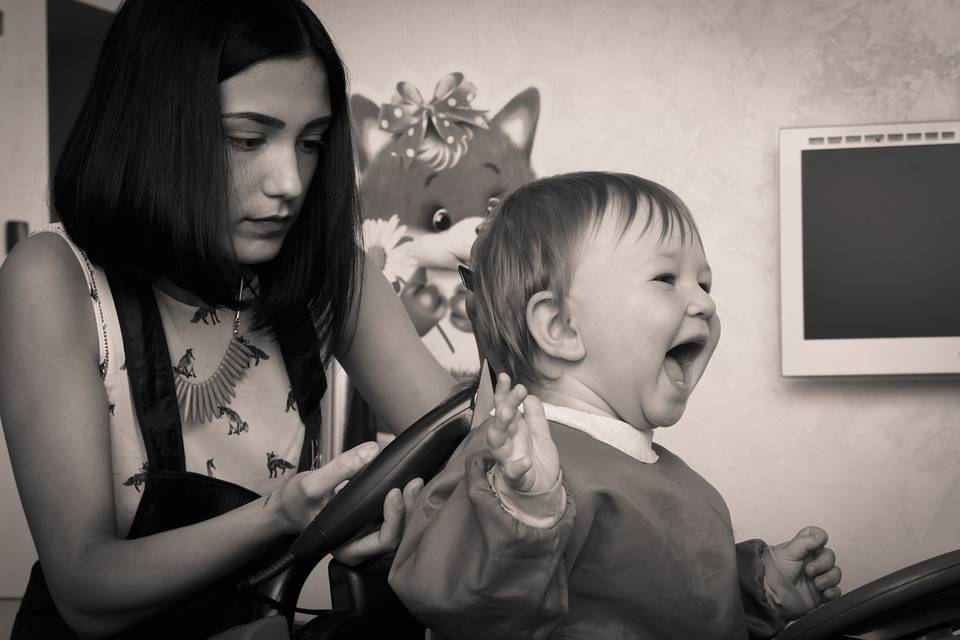 """T is for Tame"" toddler hair cut first babies haircut"