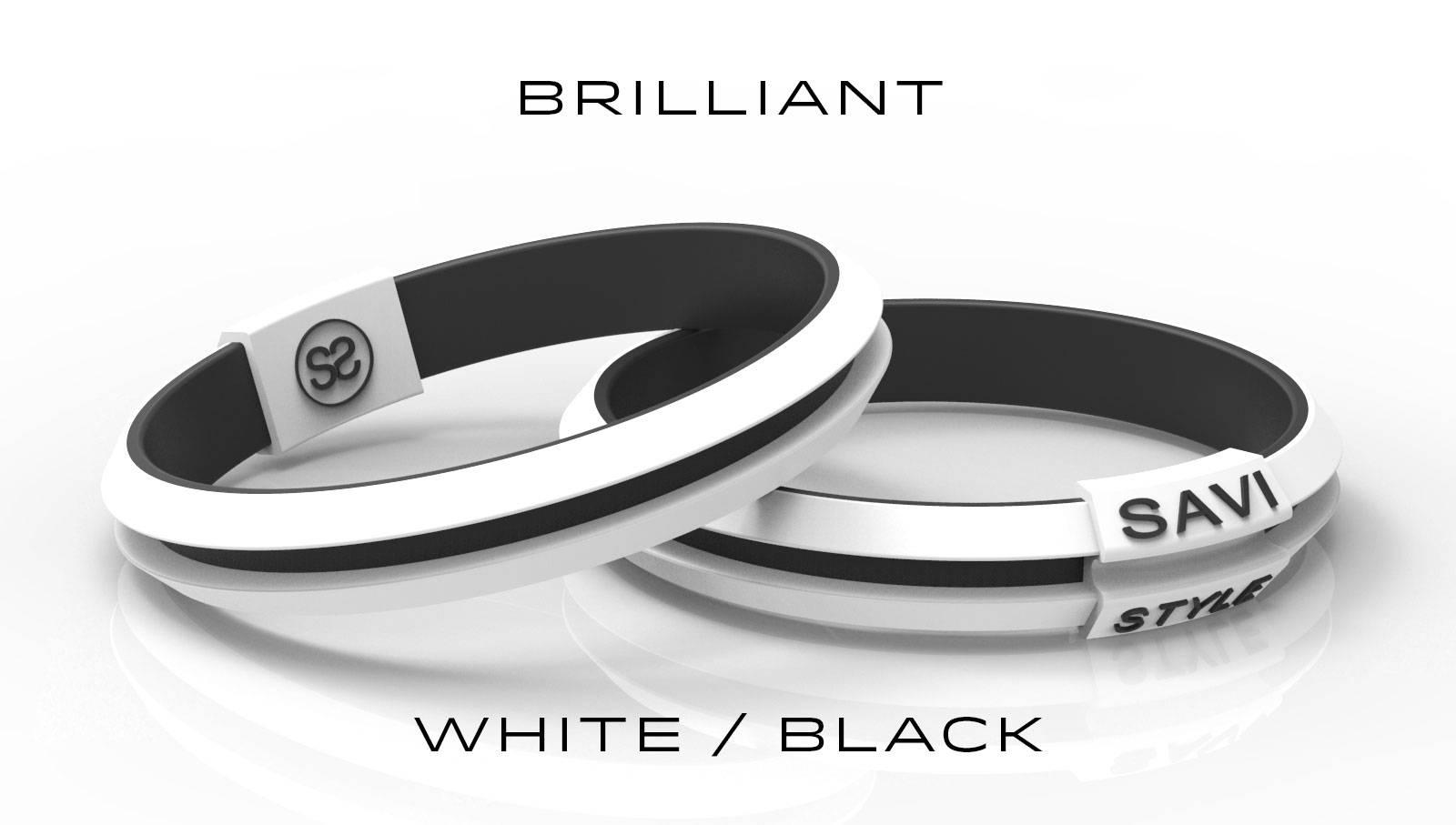 savi sleek brilliant white by savistyle hair tie bracelet stacked view