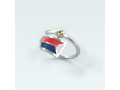 USRowing Sterling/Enamel Adjustable Ring