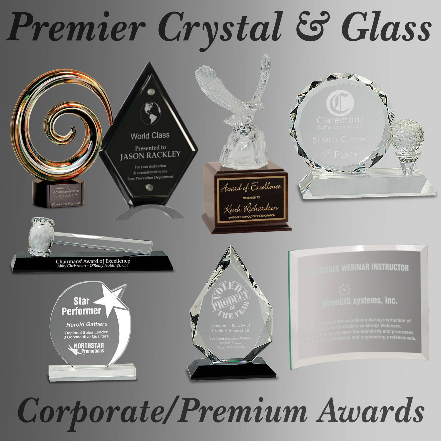 Laserable Crystal & Glass Awards
