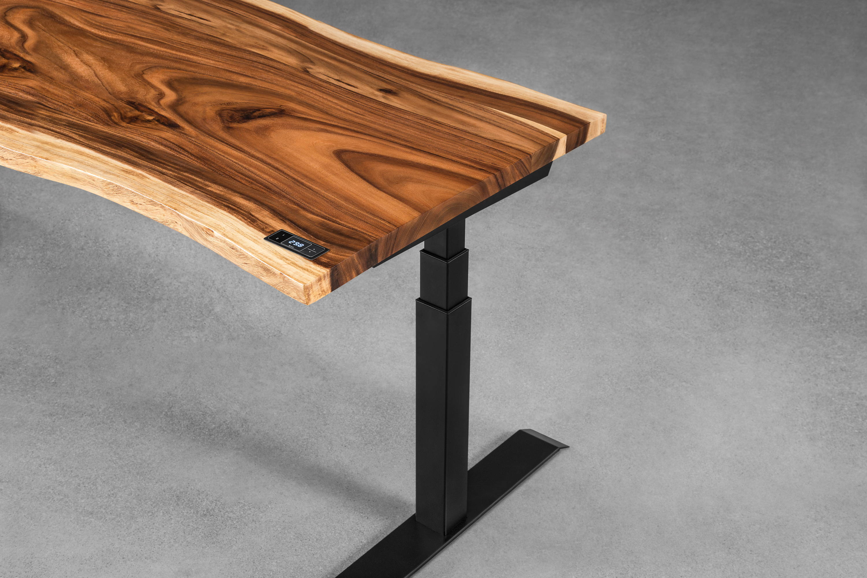 Suar sit-stand desk - live edge - ergonofis