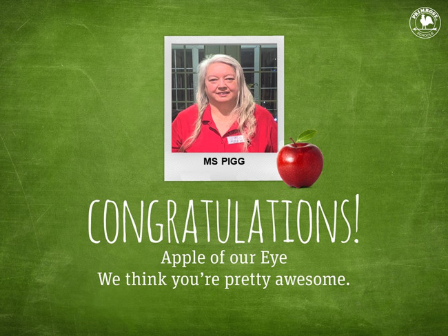 Congratulations on being or January Apple of our Eye!