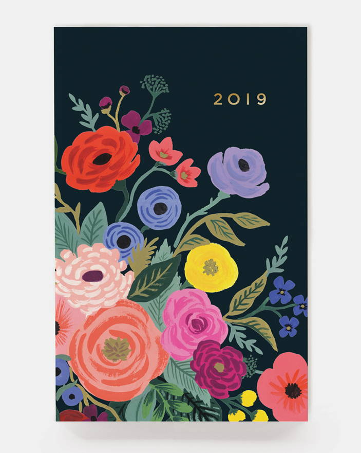 RIFLE PAPER CO. 2019 Juliet Rose Everyday Pocket Agenda