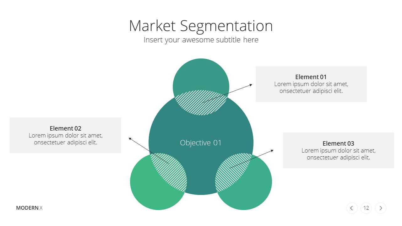 Modern X Marketing Plan Presentation Template Market Segmentation