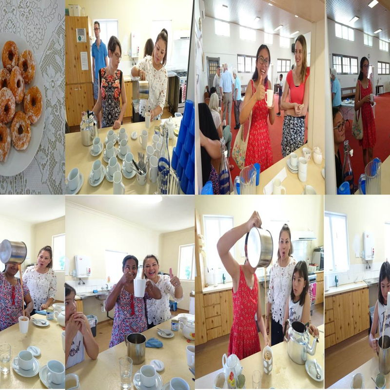 Date: 17 Nov 2019 (Sun) Teh Tarik & Sweet Potato Donuts went to HRC Kitchen