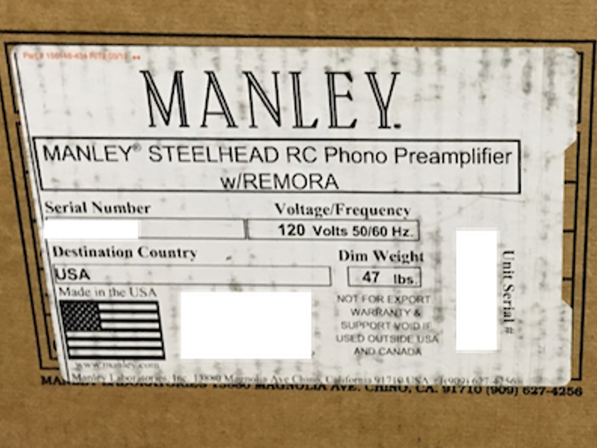 Manley Laboratories Steelhead RC Phono with Remora remote control