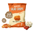 Tomato and Feta Salad Crisps. Healthy crisps. High protein, low calories, nutritious and tasty crisps.