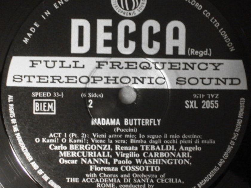 DECCA SXL-WB/NB-ED3/ED4 / SERAFIN-TEBALDI, - Puccini Madama Buterfly, MINT, 3LP Box Set!