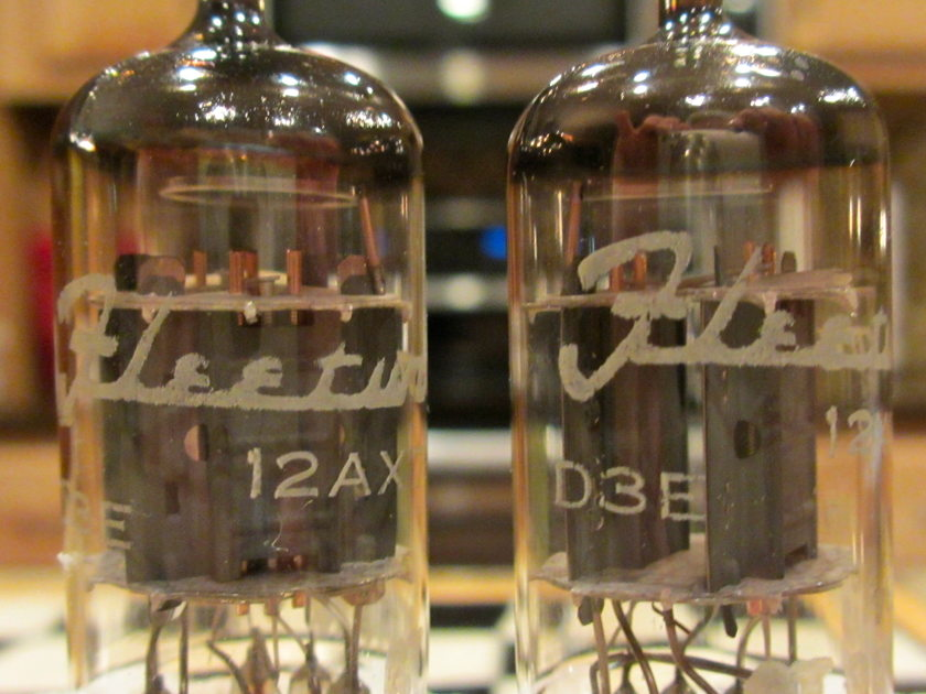 Mullard M. Pair Phono Grade 12AX7 ECC83 tubes; I61 version w/Copper Gridposts-low hours; from Vintage Tube Services
