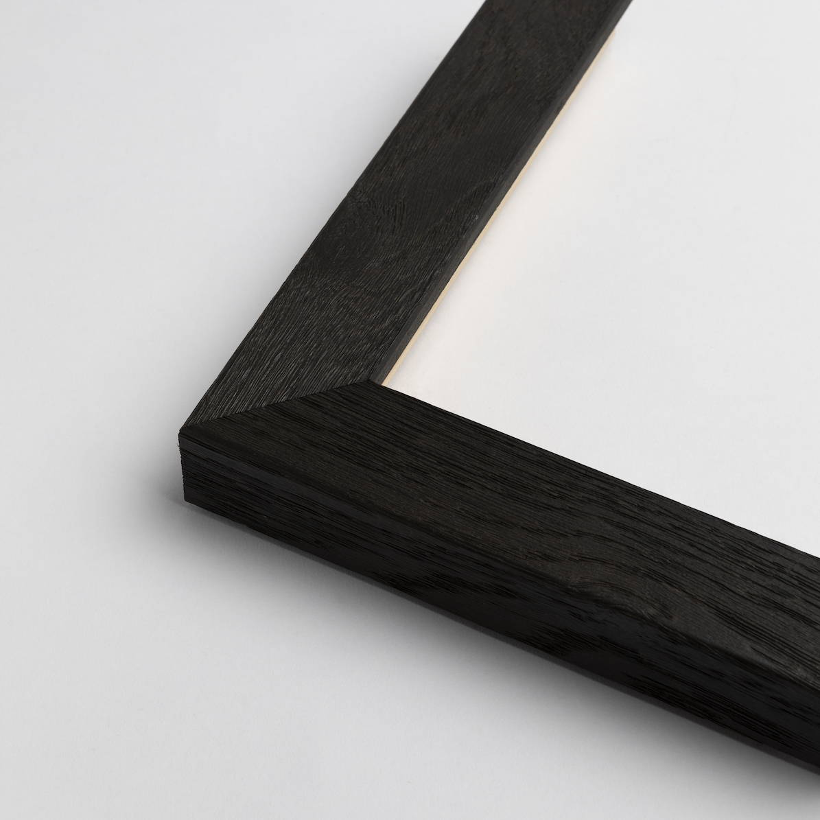 TV-Mirror Modern Timber Grain Black Frame by FRAMING TO A T
