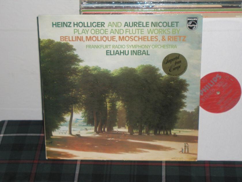 Holliger/Inbal/Frso - Bellini&Molique Philips Import LP 9500