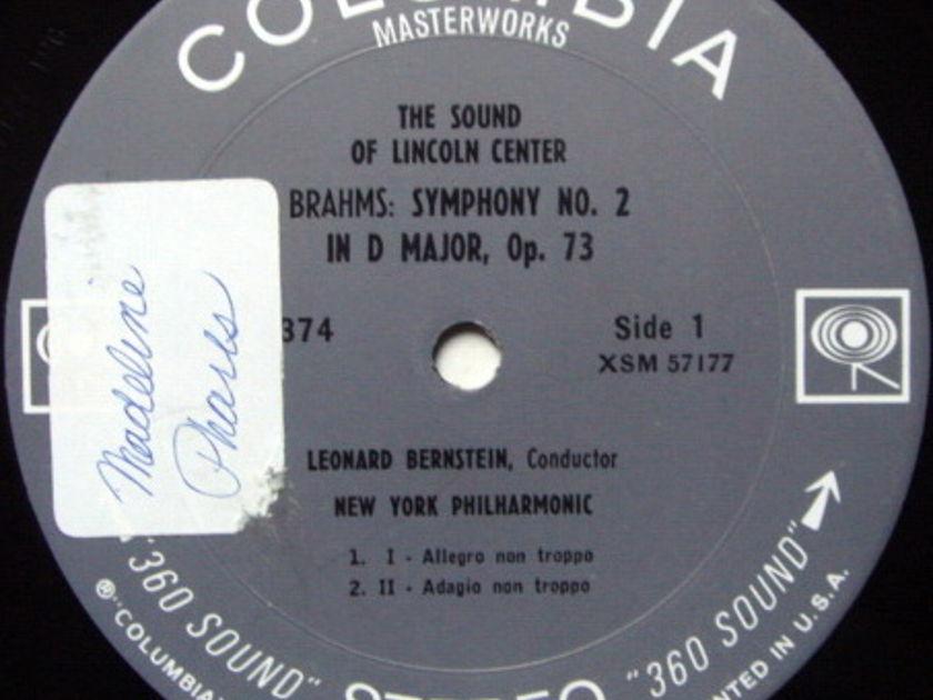 Columbia 2-EYE / BERNSTEIN, - Brahms Symphony No.2, NM!