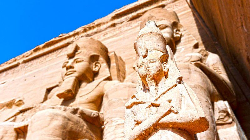 Statues at Abu Simbel, Egypt