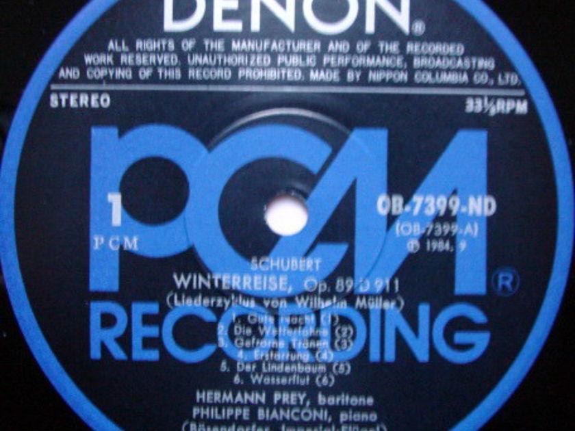 ★Audiophile★ Denon PCM / HERMANN PREY, - Schubert Winterreise, NM, 2LP Set!