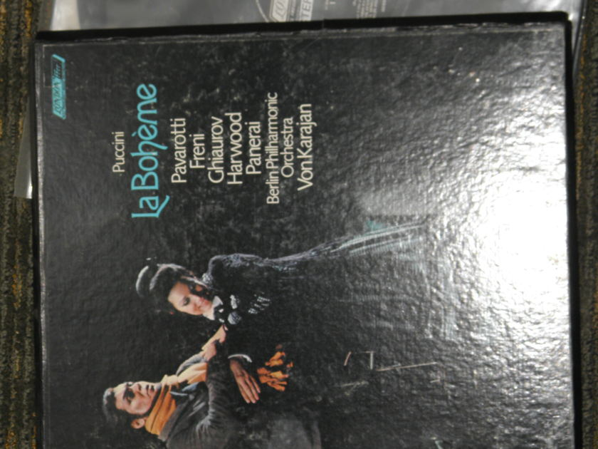 "Von Karajan/Berlin Philharmonic - Puccini ""La Boheme"" Full boxed cersion London OSA 1299 *TAS* 2 LP set UK/Decca pressings"