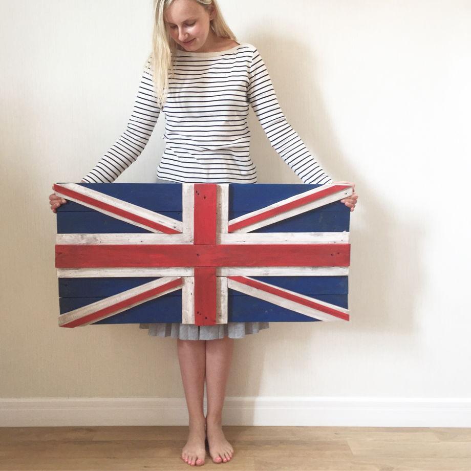 Флаг Великобритании из состаренных досок