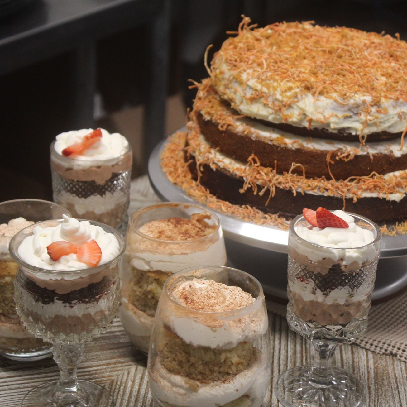 Haystacks Dessert Cart