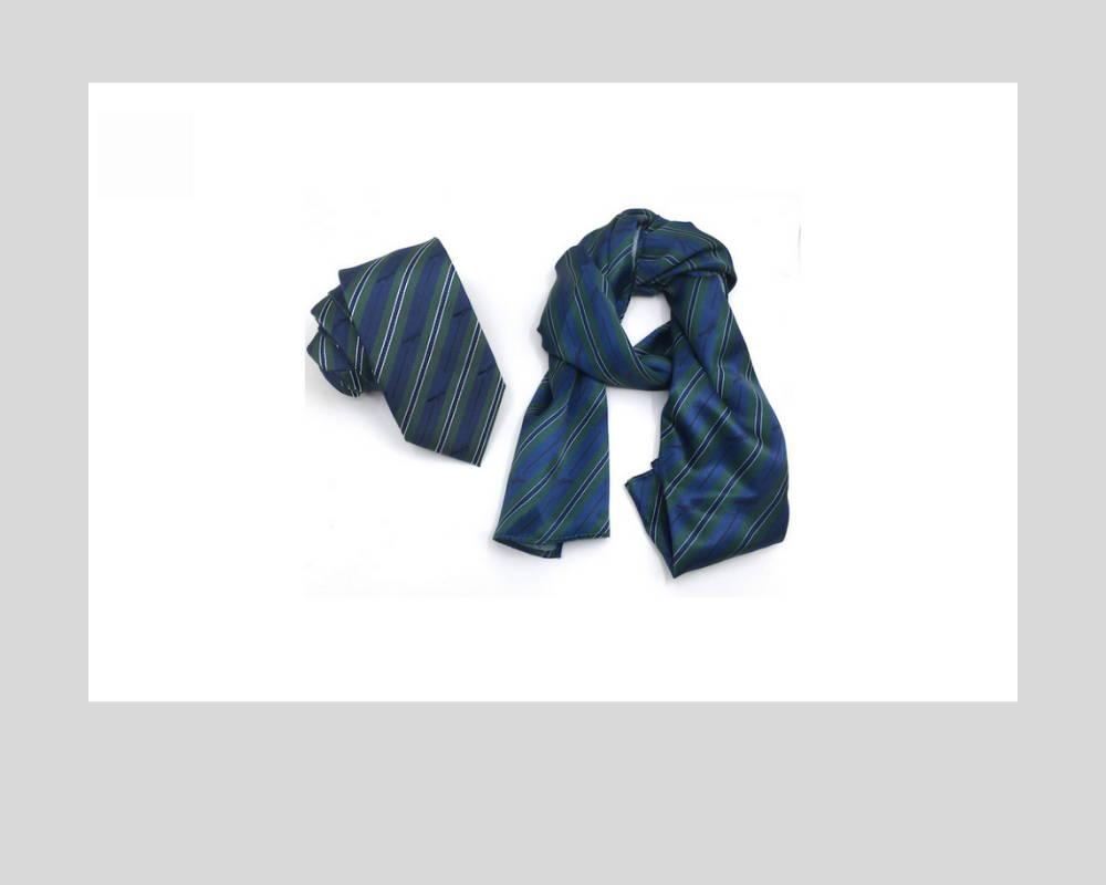 Custom Matching Neckties & Ladies Scarves Corporate Ties