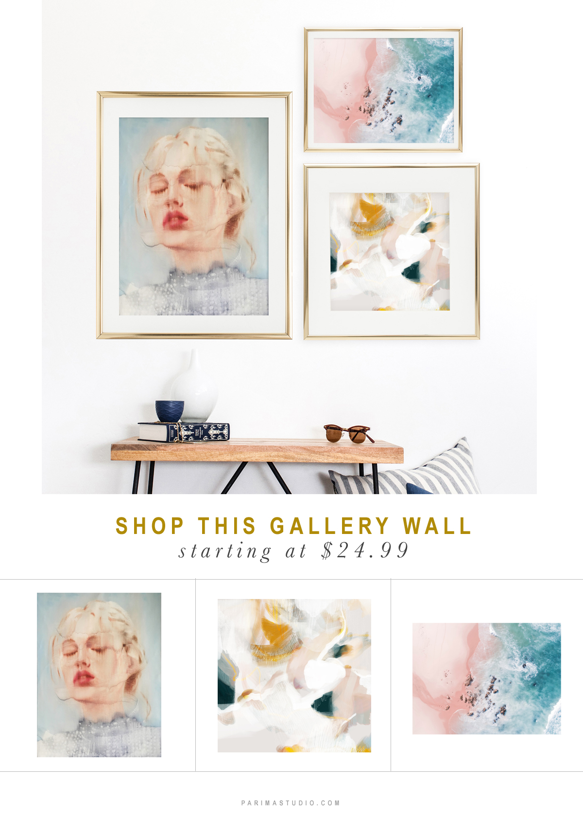 Shop this done-for-you gallery wall via Parima Studio