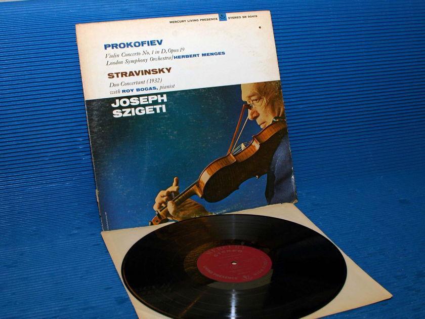 "PROKOFIEV / STRAVINSKY / Szigeti  - Violin Concerto No. 1 / Duo Concertant"" -  Mercury Living Presence 1966 1st Pressing"