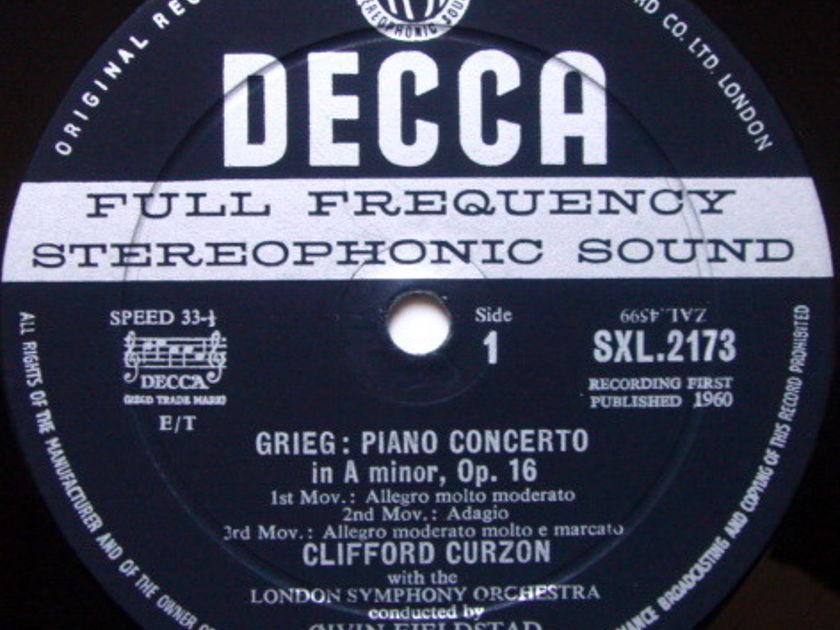 DECCA SXL-WB-ED1 / CURZON-BOULT, - Grieg Piano Concerto, VG+!