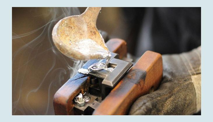 stiftung werkstattmuseum für druckkunst leipzig stanz stempel gießen