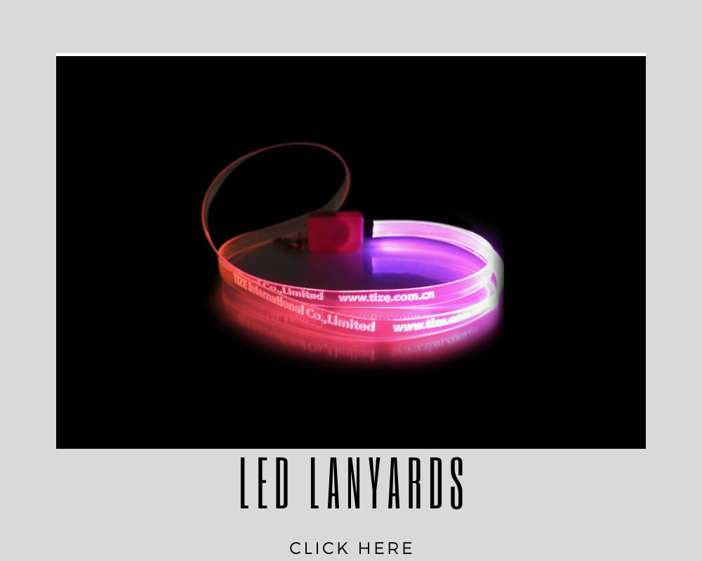 LED Lights Custom Corporate Lanyards