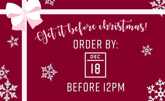 Order before December 18th to get it in time for Christmas