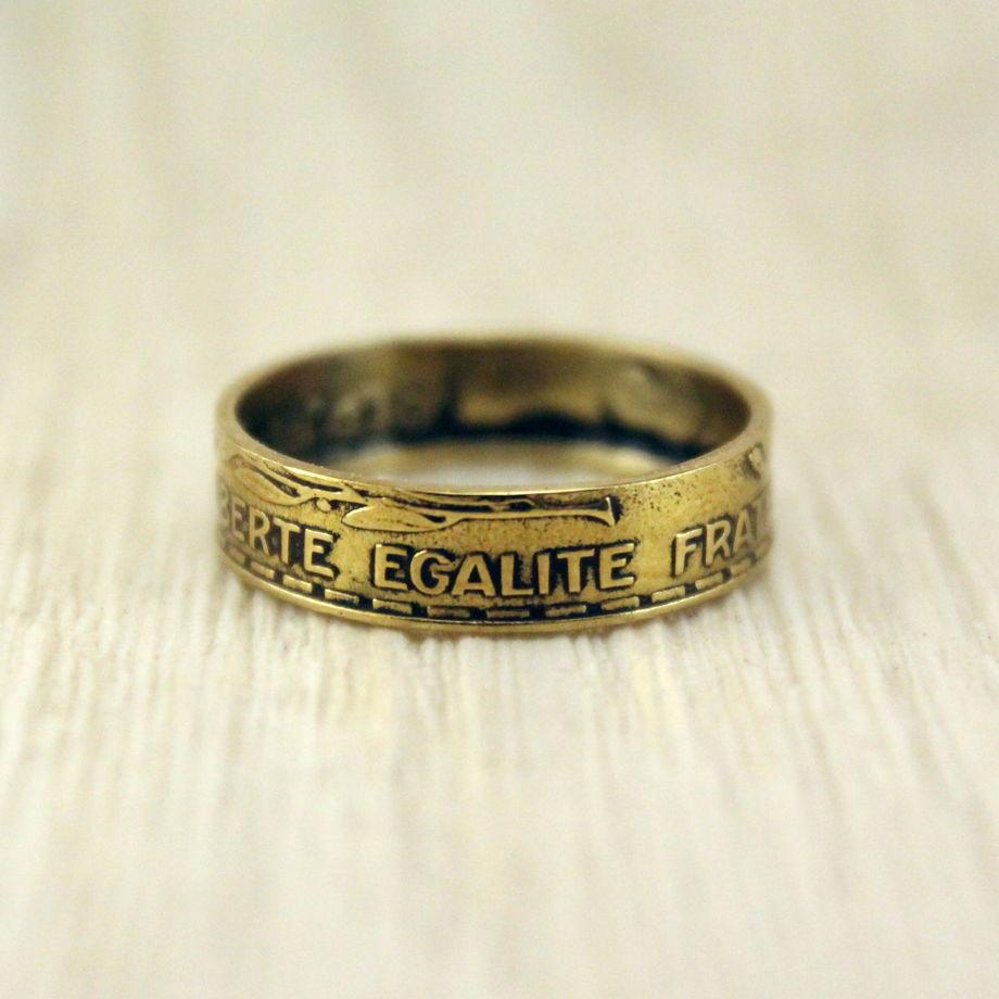 Кольцо из монеты (Франция) Национальный символ