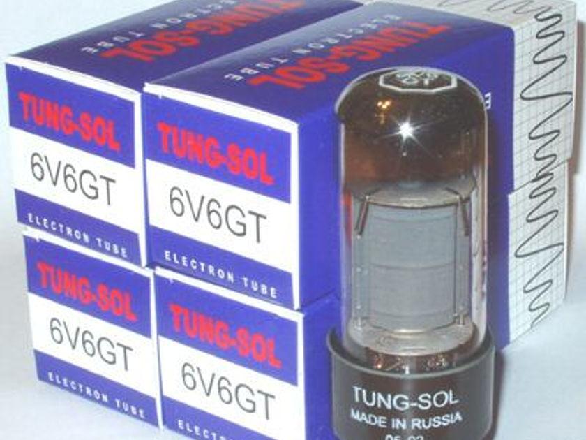 Tung Sol 6v6gt/6v6 tubes, Matched quad , reissue, new !