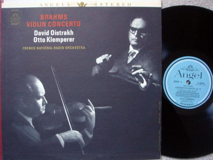 EMI Angel Blue / OISTRAKH-KLEMPERER, - Brahms Violin Concerto, NM!