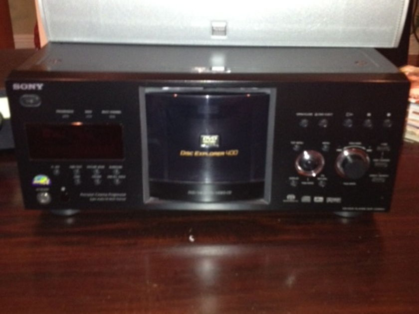 Sony 400 Disc SACD/DVD/CD DVP CX 985 includes remote